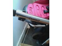 oyster 2 hotpink with oyster buggy board and car seat