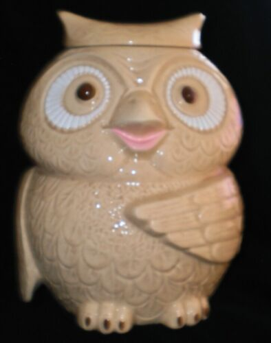 Vintage McCoy Owl Cookie Jar with box unused