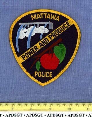 MATTAWA WASHINGTON Sheriff Police Patch HYDROELECTRIC POWER DAM APPLE