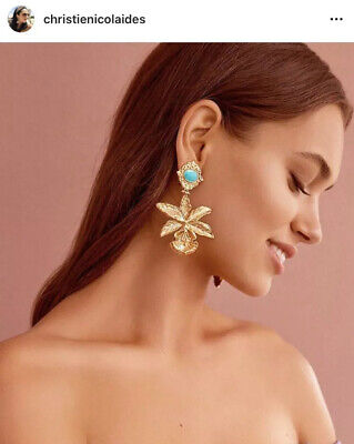 Brand New Christie Nicolaides Turquoise Aniella Earrings $269