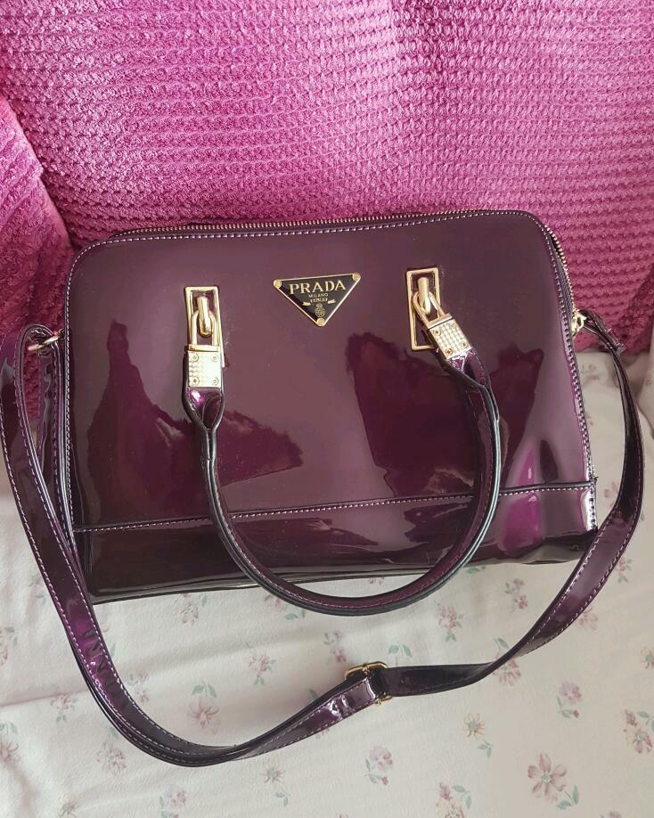 prada vernice flower - PRADA MILANO DAL 1913 PURPLE HANDBAG | in Swindon, Wiltshire | Gumtree