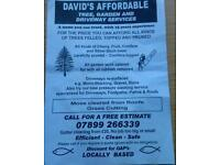 Davids affordable Tree garden and driveway services