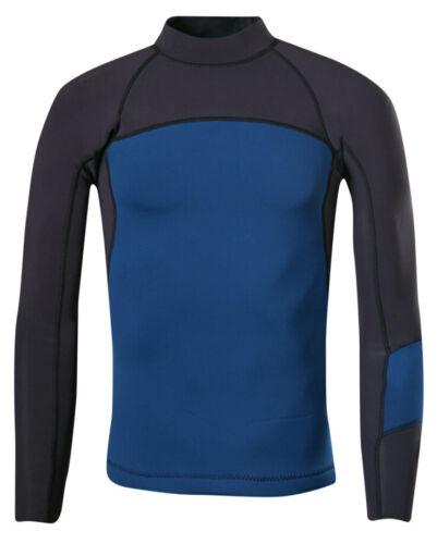 prAna Waymann 2mm Wetsuit Long Sleeve Top, Black/Blue, Size