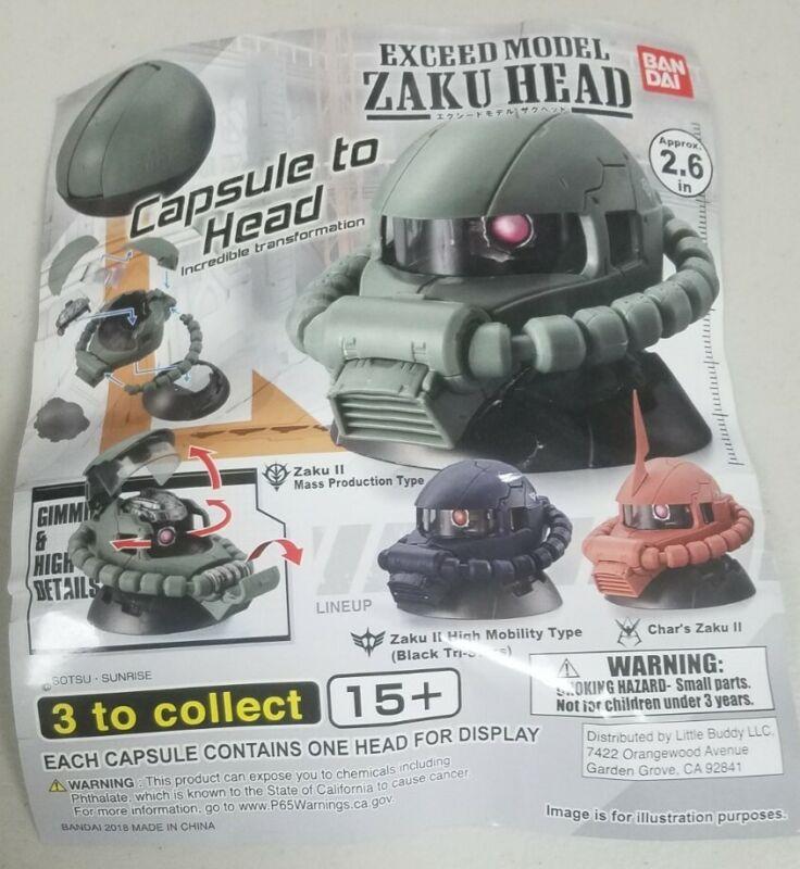 Bandai Gundam Exceed Model Zaku II Head Collection Vol.1 Gashapon - Set of 3