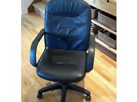 Black leather style computer chair