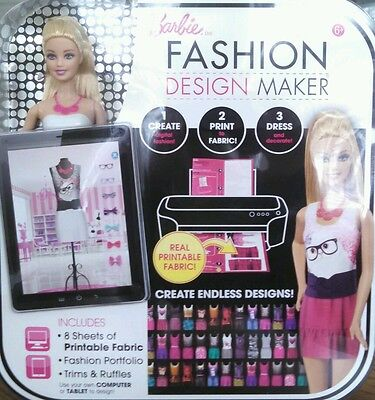 Barbie Fashion Design Maker Doll Create Computerize Printable Fabric Skill Build](Doll Printables)