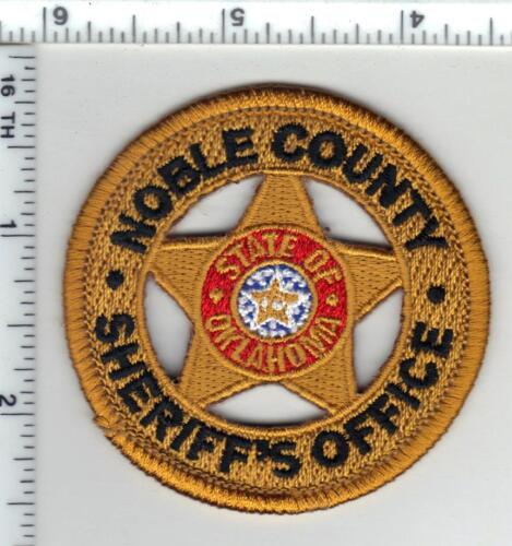 Noble County Sheriff (Oklahoma) Shirt/Jacket Patch from the 1980