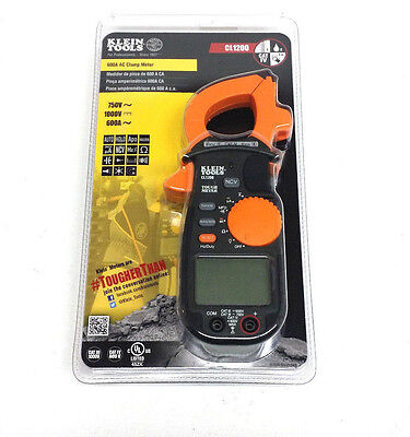 Klein Tools Cl1200 600a Ac Clamp Meter Multimeter Clampmeter New