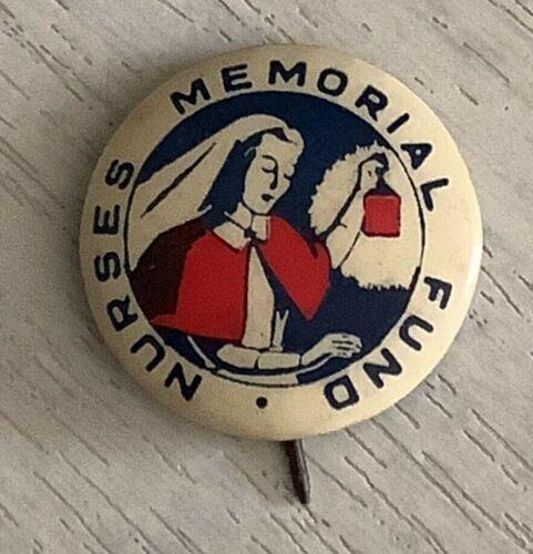Vintage Nurses Memorial Fund Appeal button badge