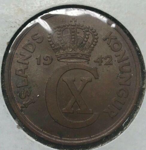 1942 Iceland 5 Aurar - Uncirculated