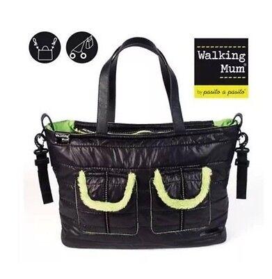 Walking Mum Black & Green Baby Changing Bag BNWT RRP £71
