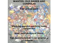 Wanted, old games and consoles