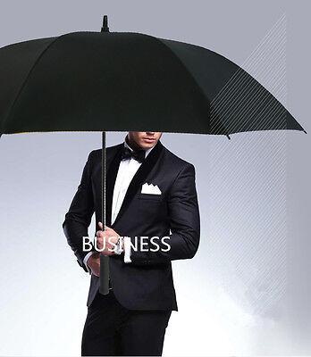 Auto Open 55-Inch Oversize Canopy Windproof Men Golf Rain Umbrella Women Parasol