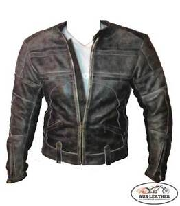 Mens-leather-jacket-motorcycle-jacket-motorbike-RETRO-vintage-fashion-jacket
