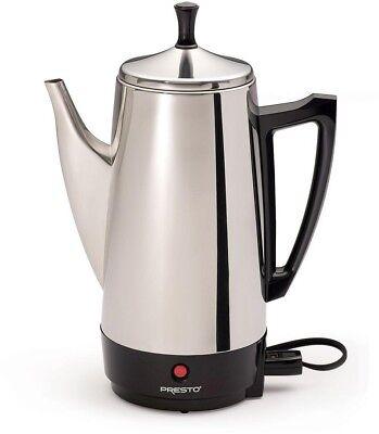 12-Cup Presto Electric Coffee Maker Percolator Corded Filter