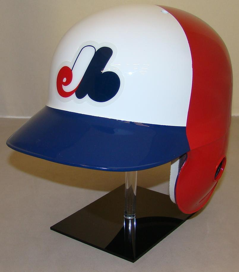 Montreal Expos Full Size 3 Color Throwback Batting Helmet - Right Handed Batter