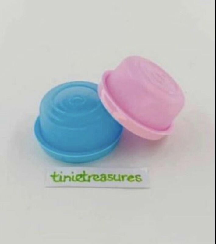Tupperware Smidget Set Of 2 With Rare Colors New tinietreasures Pink Baby Blue