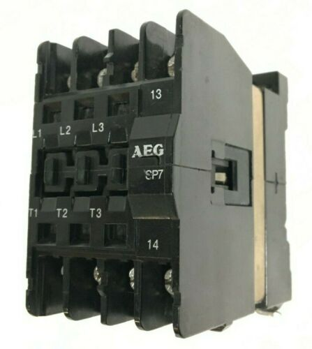AEG SP7 505-25 Contactor 600V 20A 15HP 3P 24V-Coil 1NO Auxiliary
