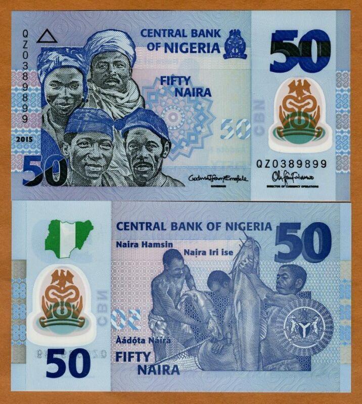 Nigeria, 50 naira, 2015, Pick 40-New,  POLYMER, UNC