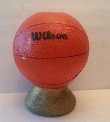 Vintage 1979  Wilson Basketball Plaster Bank Philadelphia Pa