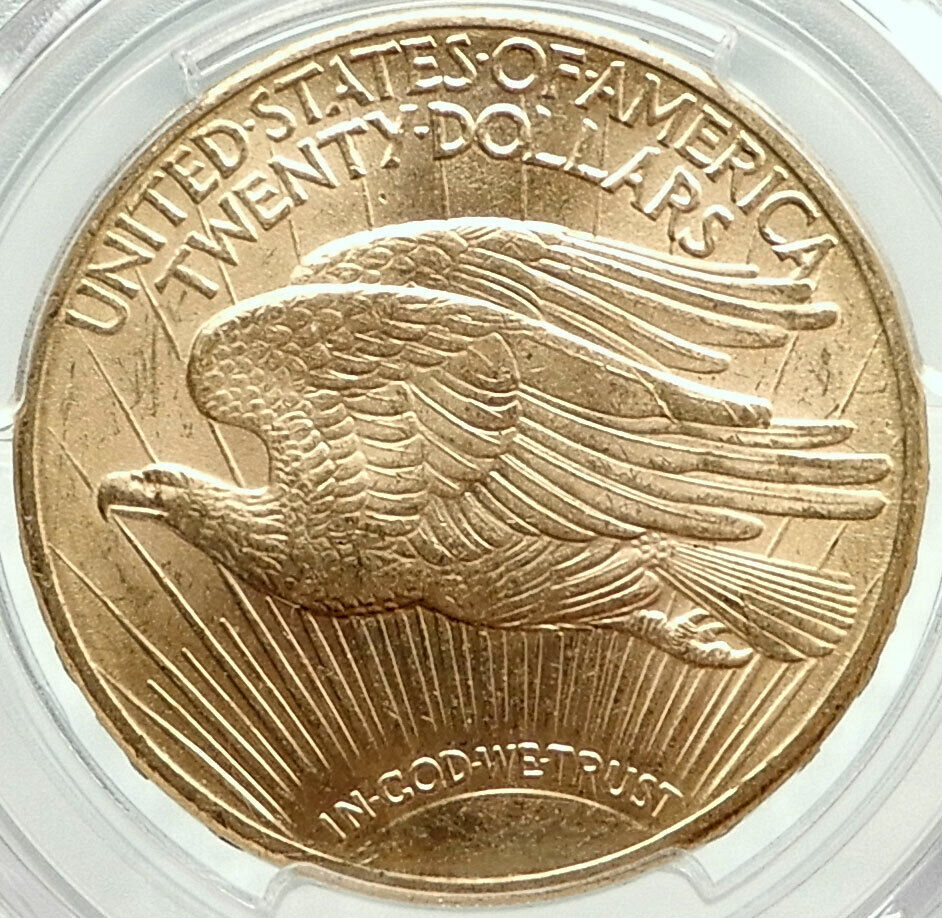 Best  1910 D UNITED STATES US SAINT GAUDENS GOLD DOUBLE EAGLE COIN PCGS MS 64 I75900