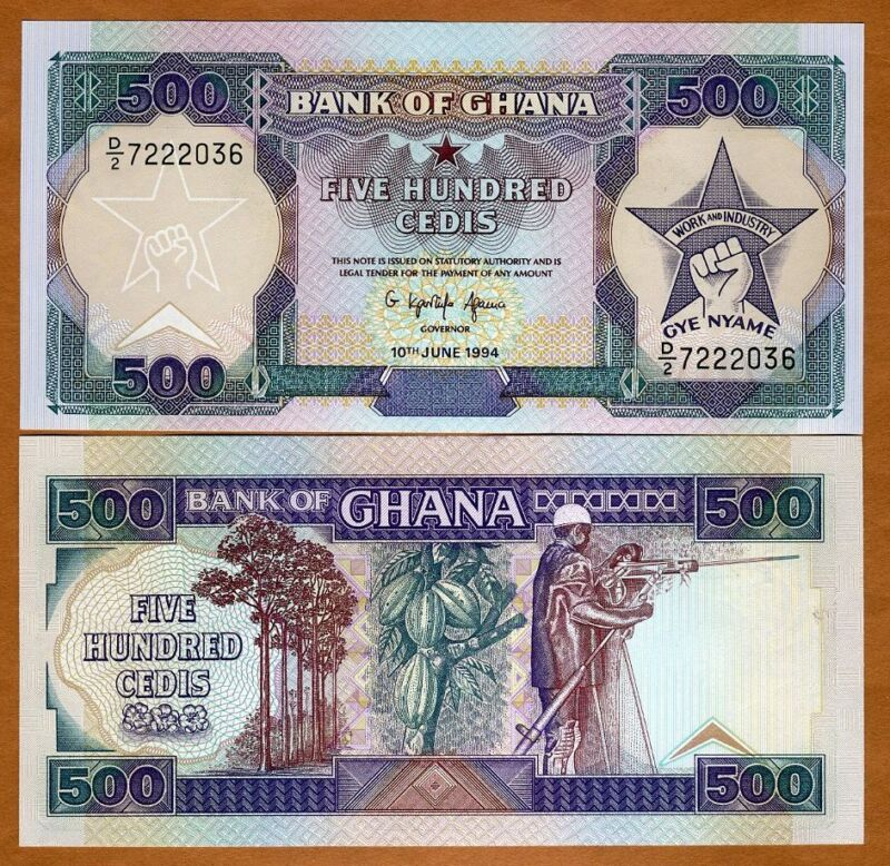 Ghana / Africa, 500 Cedis, 1994, P-28 (28c), UNC