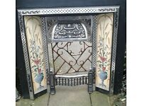 Ornate fire surround, floral. Fire place. beautiful