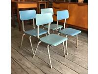 Blue Retro Stackable Children's Chairs