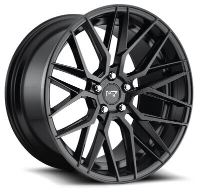 20x9 Matte Black Wheels Niche M190 Gamma 5x114.3 35 (Set of 4)