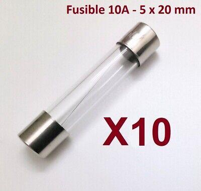 Fusible 10A - 5x20mm - Fundido Rapido - Cristal - Homologado -...