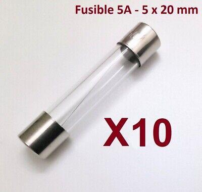 Fusible 5A - 5x20mm - Fundido Rapido - Cristal - Homologado -...