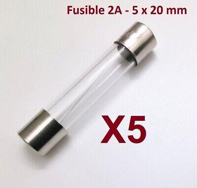 Fusible 2A - 5x20mm - Fundido Rapido - Cristal - Homologado -...