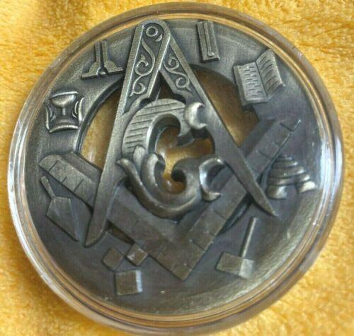 """Masonic Free Mason Challenge Coin Freemasonry 2"""" Collectible"""