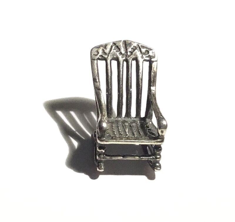 Miniature Vintage Sterling Silver Rocking Chair/ Rocker