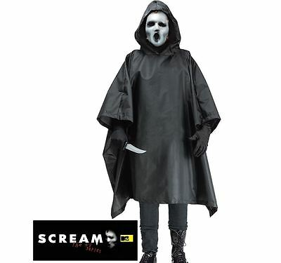 Adult SCREAM TV Series Robe + Mask Living Dead Men Halloween Fancy Dress Costume