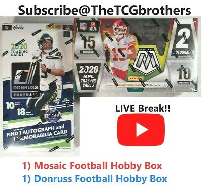Seattle Seahawks Break 419B 2020 Mosaic Football Hobby Donruss Box Burrow - $49.00