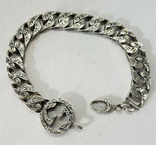 Vintage Sterling Silver *Gucci* Interlocking G Link Bracelet