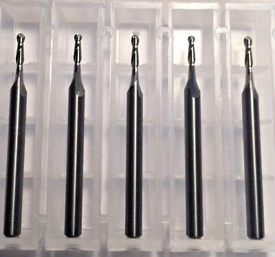 116 Dia X 14 Cut 2 Flute Ball Solid Carbide End Mill Made In Usa 5-pack