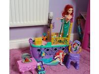Disney's Little Mermaid boat & characters