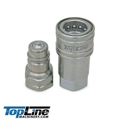 Tl33 38 Sae Thread Hydraulic Quick Connect Coupler Set 14 Body Ag Iso 5675