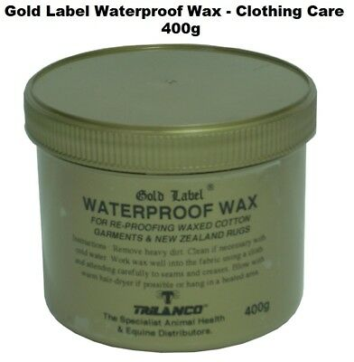 Gold Label Waterproof Wax Clothing Care for Re-Proofing Waxed Cotton 400g