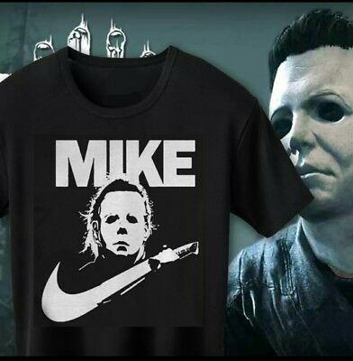Mike Myers Mask T Shirt Halloween Fancy Dress Movie Tshirt top Scary
