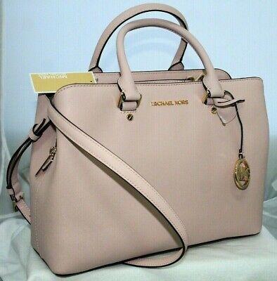 New Michael Kors Saffiano Leather Large Pink Satchel Purse Shoulder Bag $398!