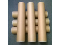 JOB LOT OF 120 POSTER TUBES 2 SIZES 550mm x 105mm AND 500mm x 83mm
