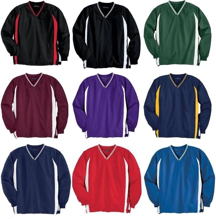 Sport Tek Mens Big & Tall V Neck Golf Pullover Windshirt Jac