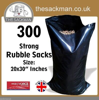 300 Heavy Duty Rubble Sacks Size: 20x30