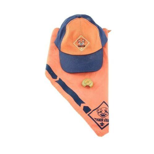Boy Scouts of America Tiger Cub Hat Neckerchief & Slide