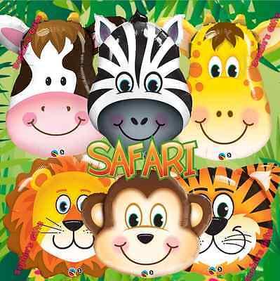 6PC Safari Jungle Farm Animal balloon balloons decorations supplies monkey - Jungle Safari Balloons