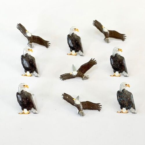 EAGLE  BRADS ** 2 CUTE ** 2 DESIGNS ** FLYING