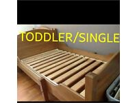 Toddler to single bed PINE